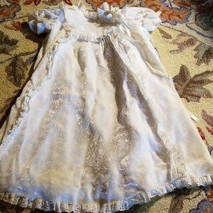Vintage, handmade christening gown